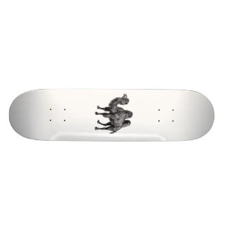 Standing two humped camel vintage drawing skateboard deck
