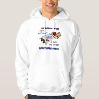 STANDING UP TO CORPORATE GREED HOODIE
