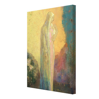 Standing Veiled Woman Canvas Print