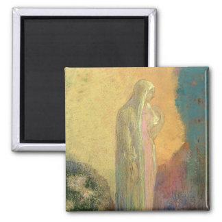Standing Veiled Woman Fridge Magnet