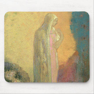 Standing Veiled Woman Mouse Pad