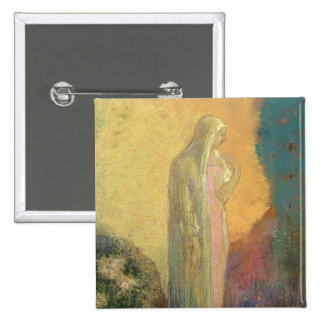 Standing Veiled Woman Pinback Button