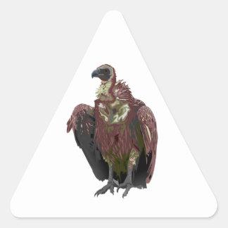 Standing Vulture Triangle Sticker