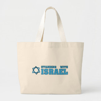 Standing With Israel Jumbo Tote Bag