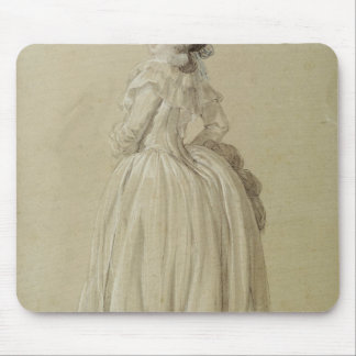 Standing Young Woman Mouse Pad
