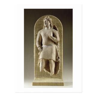 Standing youth or Maitreya, Gandhara (stucco) Postcard