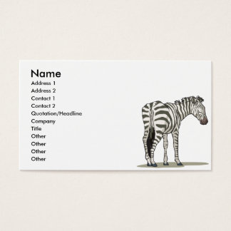 standing zebra graphic business card