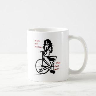 standout classic white coffee mug