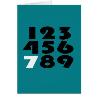 Standout Seven Turquoise Greeting Card