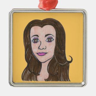 Stands by her man/Nikki soars Metal Ornament