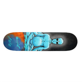 stands with fists skate board