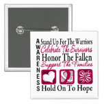 StandUp Celebrate Honor Collage Head & Neck Cancer Buttons