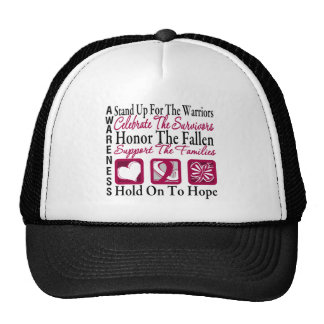 StandUp Celebrate Honor Collage Head & Neck Cancer Trucker Hat
