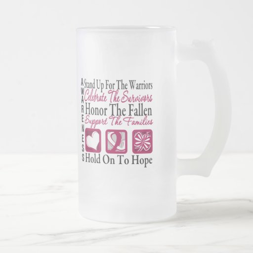 StandUp Celebrate Honor Collage Head & Neck Cancer Coffee Mugs