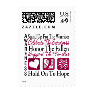 StandUp Celebrate Honor Collage Head & Neck Cancer Postage