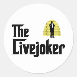 Standup Comedian Classic Round Sticker