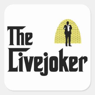 Standup Comedian Square Sticker