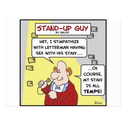standup letterman staff sex temps postcard