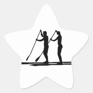 Standup paddle star sticker