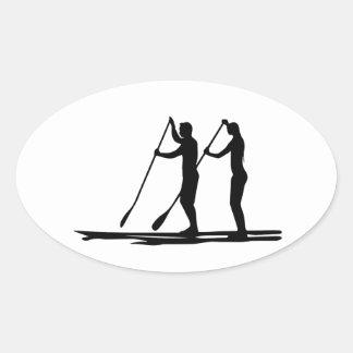 Standup paddle oval sticker