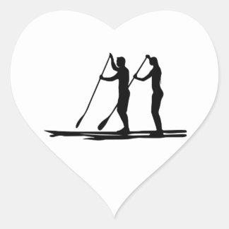 Standup paddle heart sticker