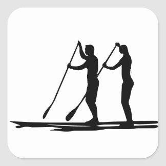 Standup paddle square sticker