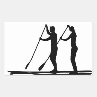 Standup paddle rectangular sticker