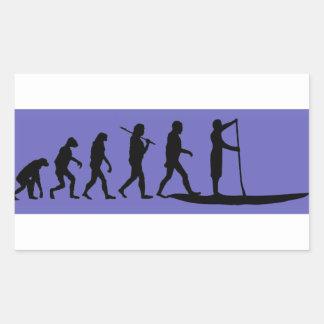 Standup Paddleboarding Evolution Rectangular Sticker