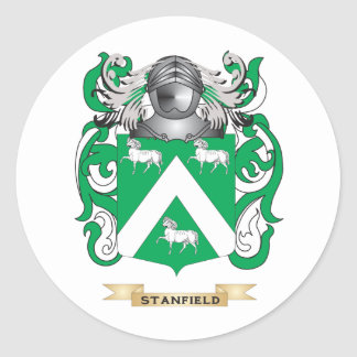 Stanfield Coat of Arms (Family Crest) Classic Round Sticker