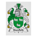 Stanfield Family Crest Poster