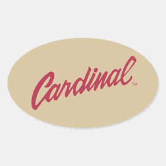Stanford Cardinal Oval Sticker