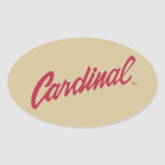 Stanford Cardinal Oval Sticker