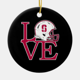 Stanford Love Ceramic Ornament