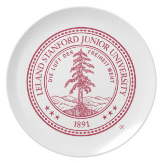 Stanford University Seal White Background Party Plates