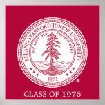Stanford University Seal White Background Poster