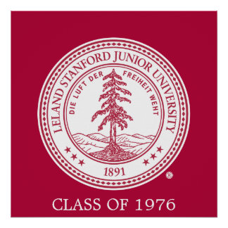 Stanford University Seal White Background Poster