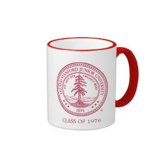 Stanford University Seal White Background Ringer Coffee Mug