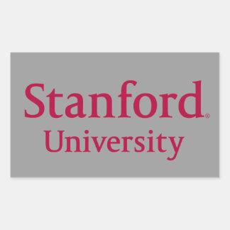 Stanford University Stacked Rectangular Sticker