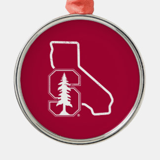 Stanford University | Standford Tree State Logo Metal Ornament