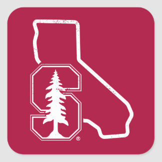 Stanford University   Standford Tree State Logo Square Sticker