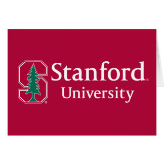 "Stanford University with Cardinal Block ""S"" & Tree Greeting Cards"