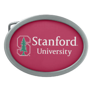 "Stanford University with Cardinal Block ""S"" & Tree Belt Buckle"