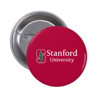 "Stanford University with Cardinal Block ""S"" & Tree Button"