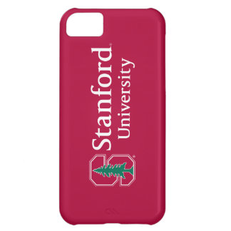 """Stanford University with Cardinal Block """"S"""" & Tree iPhone 5C Cases"""