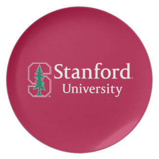 """Stanford University with Cardinal Block """"S"""" & Tree Dinner Plate"""