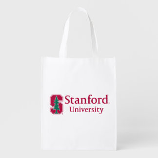 """Stanford University with Cardinal Block """"S"""" & Tree Grocery Bag"""