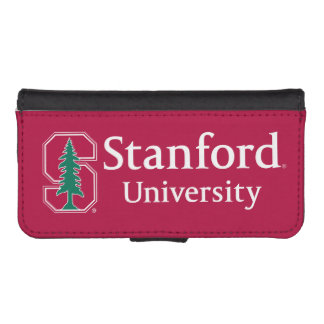"""Stanford University with Cardinal Block """"S"""" & Tree iPhone SE/5/5s Wallet Case"""