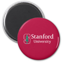 """Stanford University with Cardinal Block """"S"""" & Tree Magnet"""