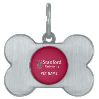 """Stanford University with Cardinal Block """"S"""" & Tree Pet Tags"""