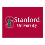 "Stanford University with Cardinal Block ""S"" & Tree Postcard"